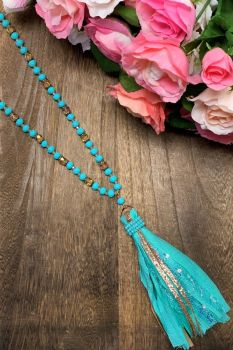 Making Memories Necklace - Turquoise Sparkle