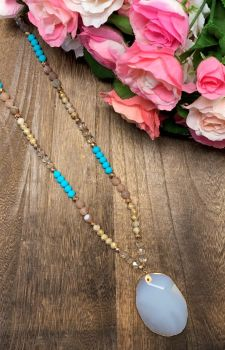 Making Memories Necklace - Turquoise Stone