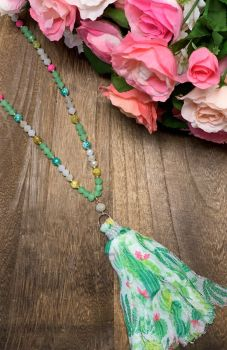 Making Memories Necklace - Lime