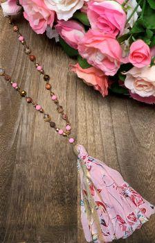 Making Memories Necklace - Pink Floral