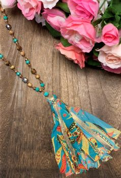 Making Memories Necklace - Turquoise Floral