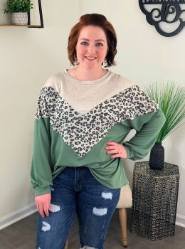 Changing Everything Top - Olive