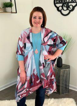 By Design Kimono - Burgundy