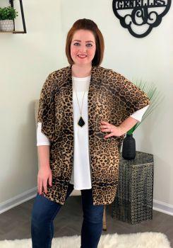 Nothing But Sass Kimono - Leopard