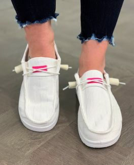 Simply Southern Slip-On Sneakers - White
