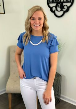 Everyday Girl Top - Chambray Blue