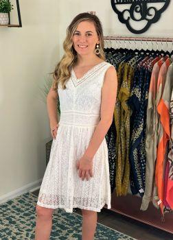 Found My Joy Dress - White