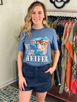 Not Today, Heifer Tee - Indigo