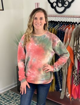 Simply Southern Crew Pullover - Pink