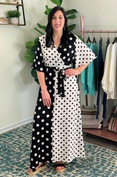 Make It A Date Dress - Black/White