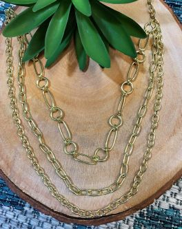 Anju Chain Link Layered Necklace - Gold