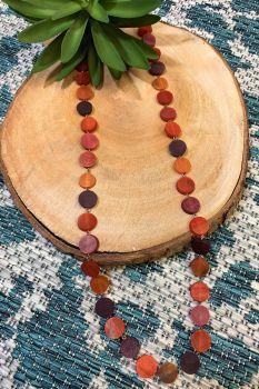 Anju Omala Necklace - Rosy Orange