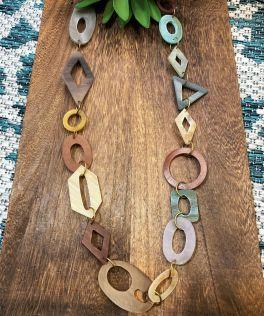 Anju Omala Necklace - Sage/Brown
