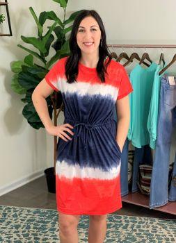 Simply Southern Tie Dye Dress - USA
