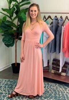 Innocent Crush Maxi Dress - Blush Pink