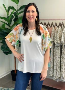 Someplace Tropical Top - Ivory