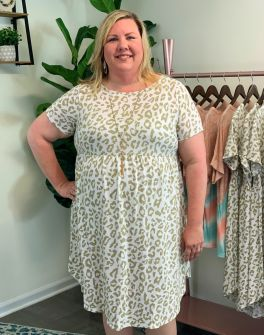 Looking For You Plus Dress - Taupe