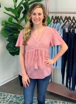 Sweet And Sassy Top - Dusty Rose