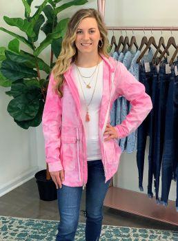 Bristol Tie-Dye Utility Jacket - Pink