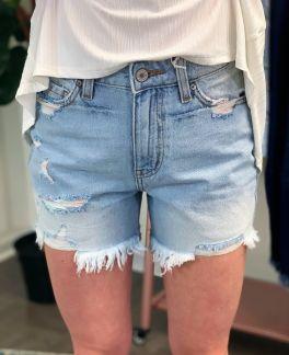 Sunny Day Denim Shorts - Light Wash