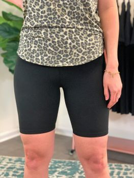 Sassy Girl Biker Shorts - Black