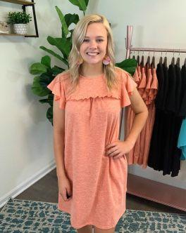 Talking The Talk Dress - Burnt Orange