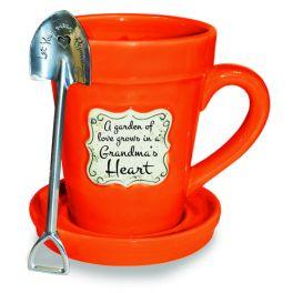 Flower Pot Mug - Orange Grandma