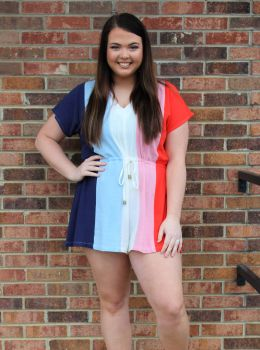 Totally Into You Plus Romper - Navy