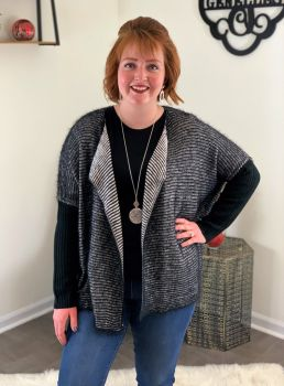 Feeling Fierce Cardigan - Black