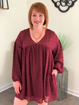 Win My Love Dress - Burgundy