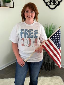 Let Freedom Ring Tee - White