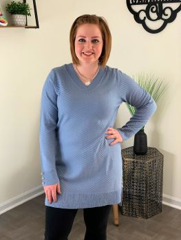 Pull Me Closer Tunic - Glacier Blue