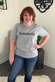 I'm A Homebody Tee - Heather Grey