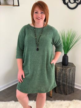 Just In Time Dress - Olive