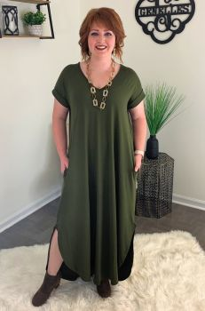 Living The Dream Maxi Dress - Olive