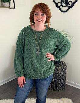 Easy Breezy Top - Olive