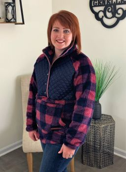 Simply Southern Quilted Sherpa - Plaid