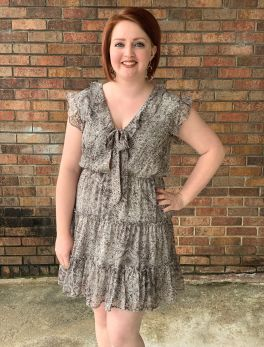 Close To My Heart Dress - Mocha/Grey