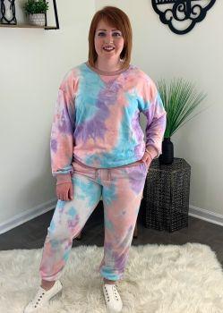 I've Got A Dream Plus Loungewear Set - Blue/Purple