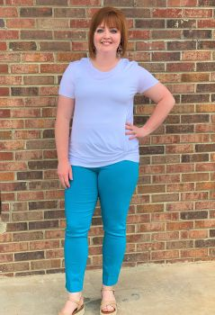 Want You Around Ankle Pants - Teal
