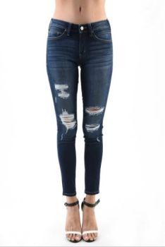 Just The Same High Rise Skinny Jeans - Dark Wash
