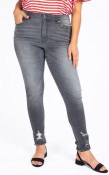 Found You Plus Distressed Skinny Jeans - Grey