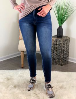 Untamed Heart High Rise Super Skinny Jean - Medium Wash