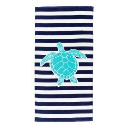 Turtle Stripe Beach Towel