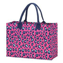 Hot Pink Leopard Tote