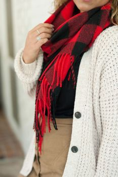 The Adaline Scarf - Red
