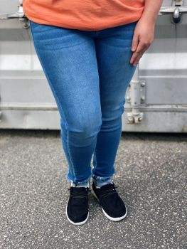 Who You Are Mid Rise Ankle Skinny Jeans - Medium Wash
