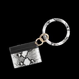 Card Holder Bracelet Keychain - Snakeskin