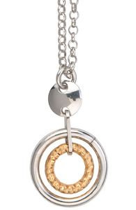 Frederic Duclos Sterling Silver Gold Plated Courtney Necklace
