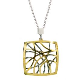 Frederic Duclos Sterling Silver & Gold Plated Contempo Necklace